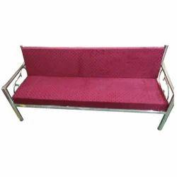 Stainless Steel Designer Three Seater Sofa