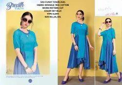 Rachna Wrinkle Free Cotton Pattern Cut Work Funky Town Catalog Kurti For Women 5