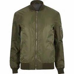 Full Sleeve Casual Wear Mens Plain Polyester Jacket, Size: S-XXL