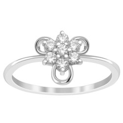 Tiny Stackable 925 Sterling Silver White Cubic Zirconia Women Wedding Wear Ring
