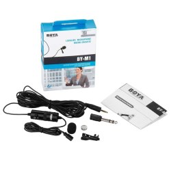 By-M1 Directional Camera Lavalier Condenser Microphone for iPhone 6 Plus