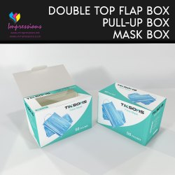 Double Flap Face Mask Packaging Boxes