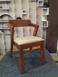 Brown Cushion Wooden Chair, For Lawn, Living Room