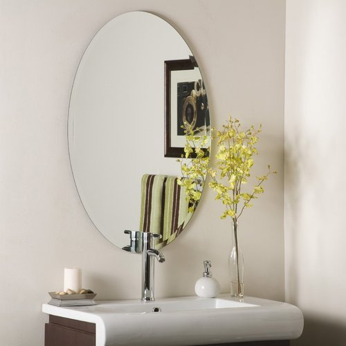 Ovel Shaped Wash Basin Mirror Bath Mirror Raj Glass
