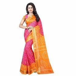 Ramapir Fashion Women's Wear Madhuri Plain Border Saree