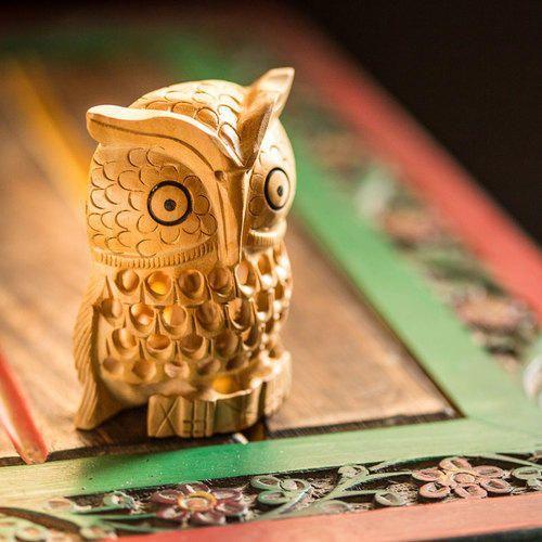 ExclusiveLane Handmade & Wooden Handcarved Owl Showpiece