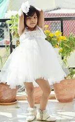 Net, Satin Girl White Princess Short Tutu Dress
