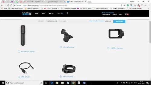 GoPro Karma Grip for HERO6 Black & HERO5 Black GoPro - Stabilization
