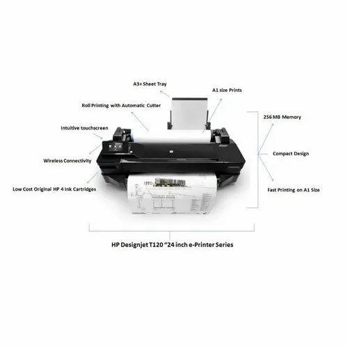 Black T 120 Designjet HP Printer, Model Number: T-120