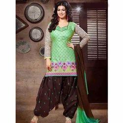 Cotton Multi-color Ladies Party Wear Salwar Suit
