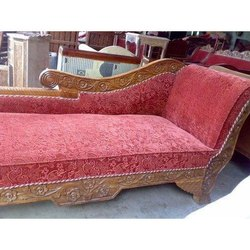 Tayyaba Enterprises Wooden Red Chaise Living Room Furniture