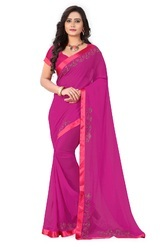 Riva Enterprise Women''s Arrival Stone Work Saree