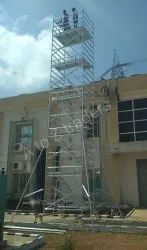 Movable Aluminum Scaffolding Stairway Platforms