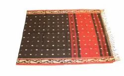 Handloom Saree BB/E050-Black With Red