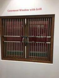White Everywhere UPVC GRILL CASEMENT WINDOW