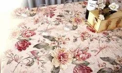 AOP Floral Printed Table Cloth