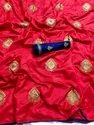 Embroidery Sana Silk Saree With Blouse