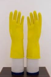 Yellow Unisex Household Gloves, Size: Free Size