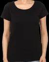 Ladies Plain Round Neck Sublimation Cotton T Shirt