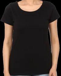 KWC Ladies Plain Round Neck Sublimation Cotton T Shirt