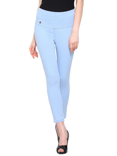 12f3e86ab58b62 Imported Blue Women' s High Waist Denim Jegging Ankle Length Style Jeggings  Solid Slim Fit