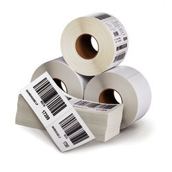White And In Upto 10 Colors Roll Form Sticker, Packaging Type: Shrink Wrap