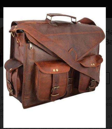 b956324333626 Handmade Vintage Handmade Leather Messenger Bag For Laptop at Rs ...