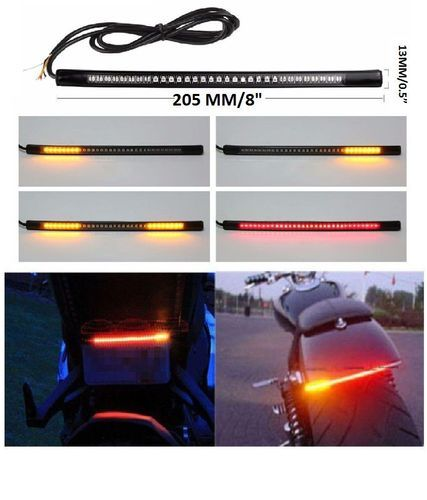 Universal Flexible Led Strip Brake Light With Turn Signal Indicators 8