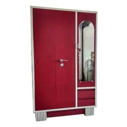 Red Modern Metal Almirah, For Home Furniture