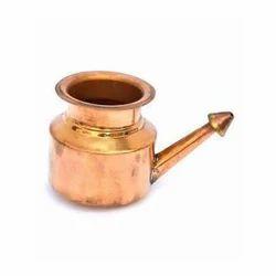 Plain Copper Neti Lota, For Home, Temple, Capacity: 200-300 Ml