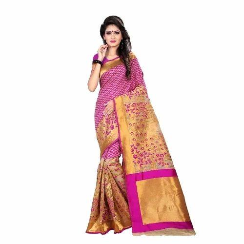 Banarasi Art Silk Saree with Blouse Piece, Saloni Designer   ID: 16588092655