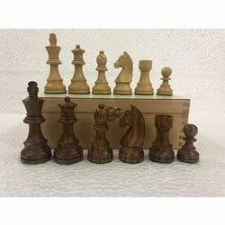 German Knight Sheeshamwood Chess Pieces Set