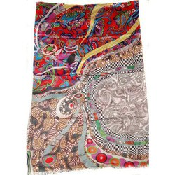 Silk Modal Digital Print Shawls