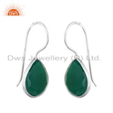 Green Onyx Gemstone Sterling Silver Women's Earrings