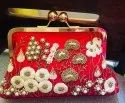 Embroidered Party Clutch Purse