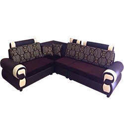 L Shaped  Wooden Sofa Set
