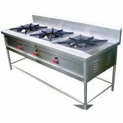Three Burner Gas Stove, For Kitchen