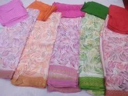 Printed Festive Wear SST Chiffon Saree Hand Print, With Blouse Piece, 5.5 m (separate blouse piece)