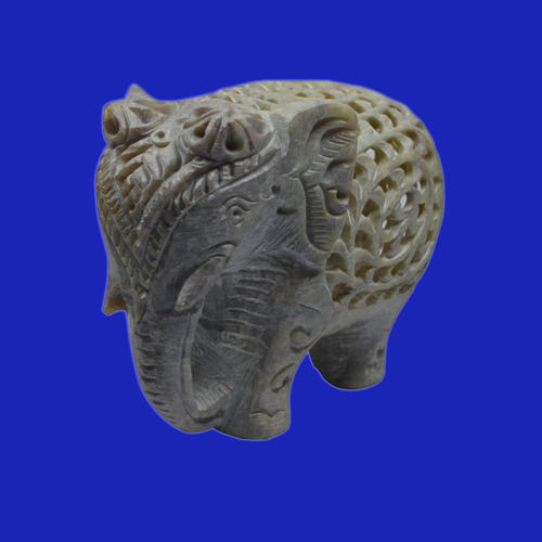 Soapstone Undercut Elephant Soapstone Handcrafted Elephant Exporter From Agra