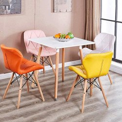 Modern Multicolor Designer DSW Wooden Leg Chair, For Cafe