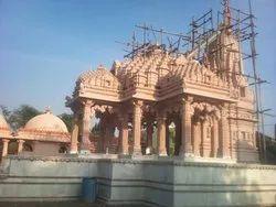 Red Sandstone Big Temple Construction