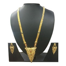 MPJ Golden Designer Artificial Necklace Set, Size: 11 cm