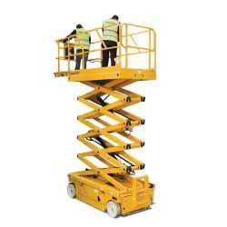 Self propelled scissor lift.