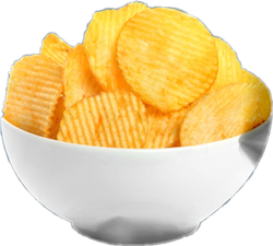 Salted Potato Chips, Packaging Type: Packet