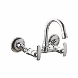 Sink Mixer With Swinging Spout Wall Mounted