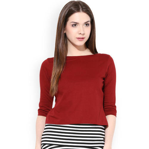 Womens Cotton Red T Shirt
