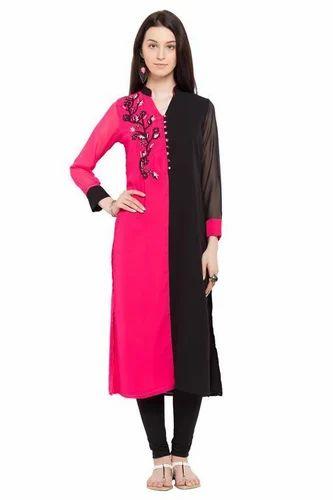Women Indian Pakistani Embroidered Cotton Kurti Kurta Designer Tunic Top