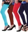 Plain Multicolour Cotton Leggings