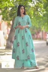 Printed Cotton Kurti with Palazzo