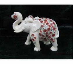 Marble Inlay Elephant